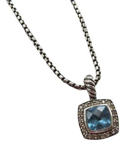 David Yurman Petite Albion Blue Topaz/Pave' Diamond; 16-17