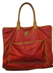 Fendi Vintage Rare Tote in Red and tan