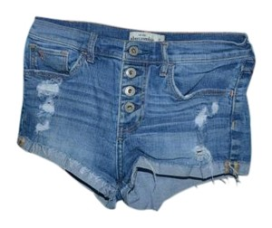 Abercrombie & Fitch Cuffed Shorts Blue jean.