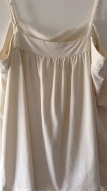 Ann Taylor LOFT Pretty Ruffled Neckline Top cream