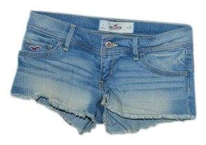 Hollister Stretchy Cut Off Shorts Denim