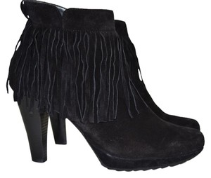 Paul Green Wedge Moto black suede Boots