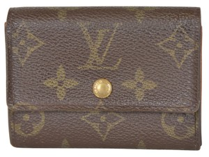 Louis Vuitton Louis Vuitton Monogram Porte Monnaie Plat Coin Purse Wallet M61930
