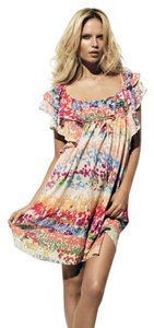 H&M short dress MULTI COLOR The Garden Summer Flare Babydoll on Tradesy