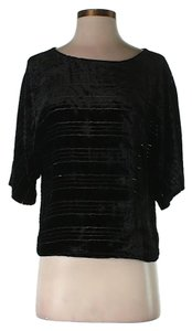 Twelfth St. by Cynthia Vincent Boatneck Silk Top Black