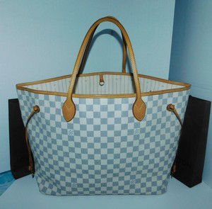 Louis Vuitton Cruise Wear Tote in White Blue
