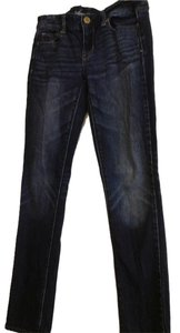 American Eagle Outfitters Stretch Wash Skinny Jeans-Dark Rinse
