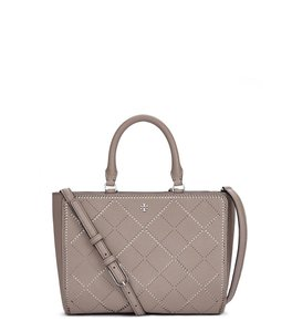 Tory Burch Robinson Tote in French Gray / New Ivory