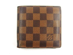Louis Vuitton Marco Damier Canvas Leather Bifold Wallet w/ Dustbag