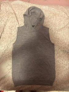 Club Monaco Hoody Sleeveless Fall Sweater Sweatshirt