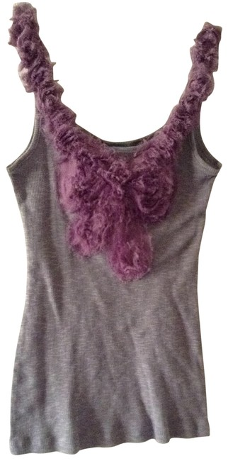 Preload https://item4.tradesy.com/images/hip-gray-pretty-purple-neckline-tank-topcami-size-6-s-195683-0-0.jpg?width=400&height=650