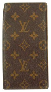 Louis Vuitton Porte Cartes Credit Monogram Canvas Leather Long Checkbook Wallet