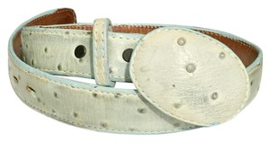 Genuine Ostrich Skin Leather Belt