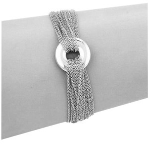 Tiffany & Co. Mesh Collection Tiffany & Co. Multi-Strand Circle Ring Toggle Bracelet Sterling Silver.