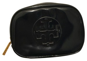 Tory Burch Tory Burch Navy Blue Patent Leather Cosmetic Make Up Pouch Case
