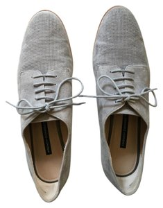 French Connection Oxfords Oxford Suede Blue Gray Flats