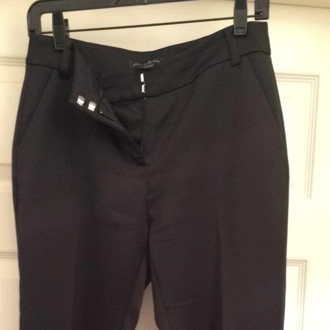Guess By Marciano Crop Zipper Dresspants Dress Work Nightout Designer Zippers Satin Capri/Cropped Pants Black