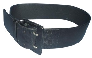 Club Monaco Club Monaco black Snakeskin leather belt size M