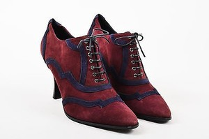 Herms Hermes Burgundy Navy Blue Red Boots