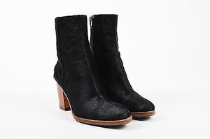 Cline Celine Pony Hair Wooden Black Boots
