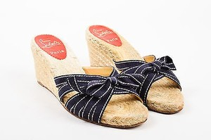 Christian Louboutin Navy Blue Sandals