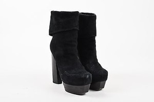CoSTUME NATIONAL Suede Black Boots