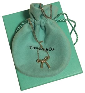 Tiffany & Co. Tiffany & Co. Sterling Silver Bow Pendant Necklace