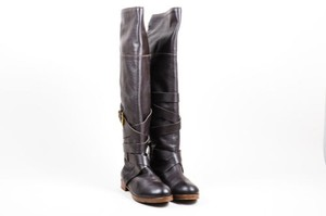Chloé Chloe Prince Pebbled Brown Boots