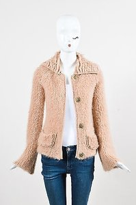 Alessandro Dell'Acqua Dusty Mohair Blend Boucle Pink Jacket