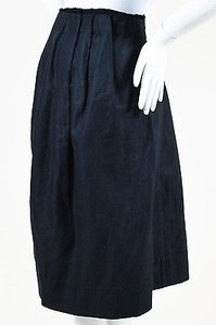3.1 Phillip Lim Navy Linen Blend Skirt Blue