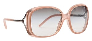 Burberry Burberry Pink Dark Gray Gradient Lens Square Frame Oversized Sunglasses