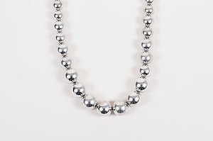 Napier Vintage Napier Silver Tone Graduated Ball Bead Chunky Necklace