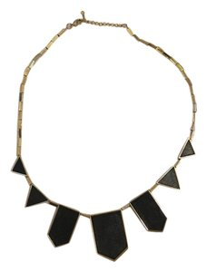 House of Harlow 1960 House of Harlow Classic Station Pyramid Necklace in black