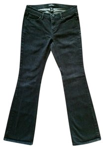 White House | Black Market Noir Low Rise Flare Leg Jeans-Dark Rinse