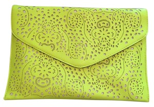 Other Yellow Envelope Neon Yellow Clutch