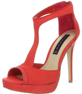 Steven by Steve Madden Textured Detail Party Red Platforms