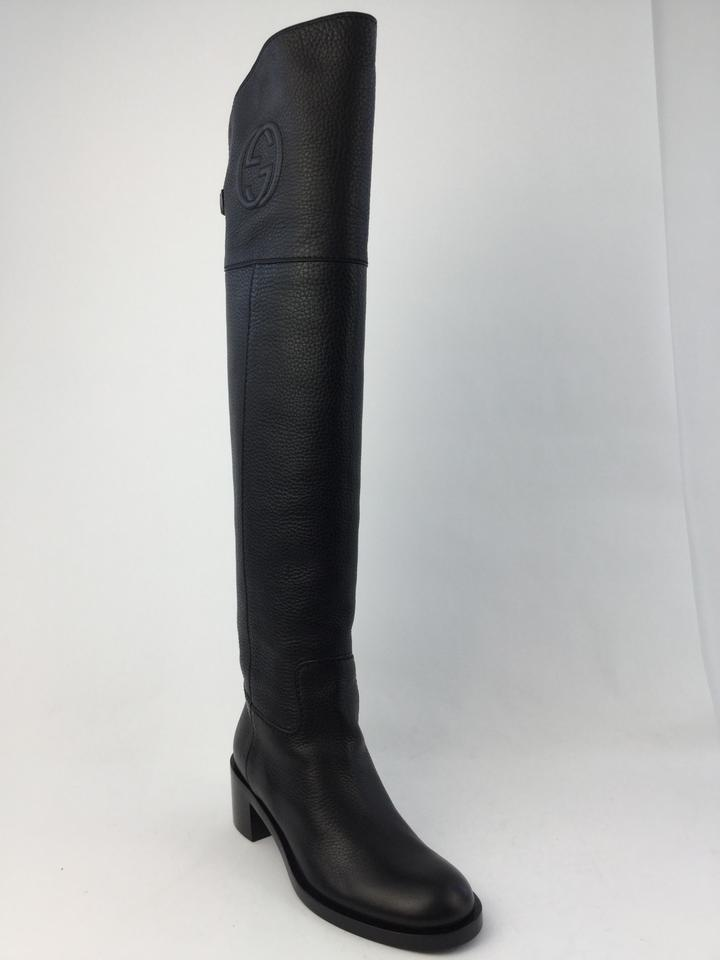 e69c6ca155f Gucci Black Soho Over The Knee Boots Booties Size US 7.5 Regular (M ...