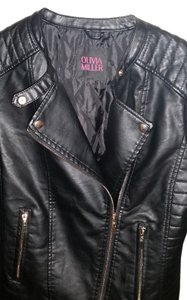 Olivia Miller Faux Leather Quilted Leather Jacket