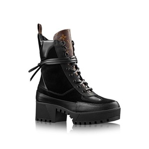 Louis Vuitton Black and monogram Boots