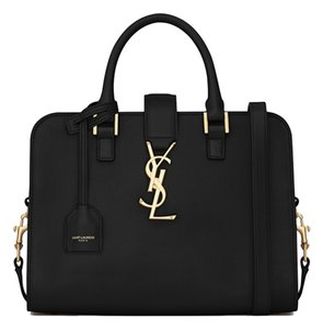 Saint Laurent Baby Cabas Satchel in Black