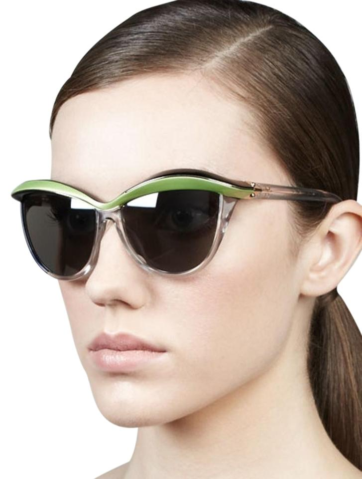 7cae22ec5f7d8 Dior Green Clear Black Demoiselle1 Cat-eye Runway Sunglasses - Tradesy