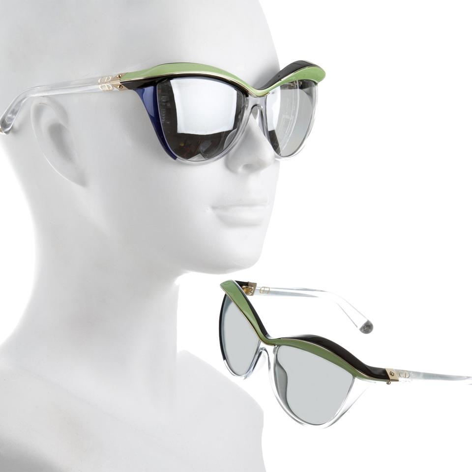 d1302b4b5df Dior Green Clear Black Demoiselle1 Cat-eye Runway Sunglasses - Tradesy