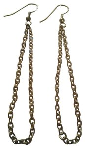 NEW Handmade Gold Chain Loops Dangle EARRINGS