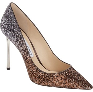 Jimmy Choo Romy Pointy Toe Bronze/Anthracite Pumps