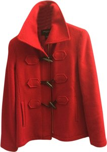 Ann Taylor Toggle Winter Stand Up Collar Wool Pea Coat