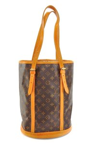 Louis Vuitton Bucket Gm Monogram Leather Shoulder Bag