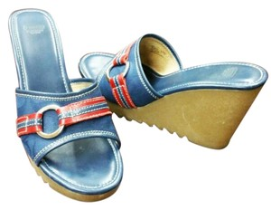 Coach Blue Leather Sandals