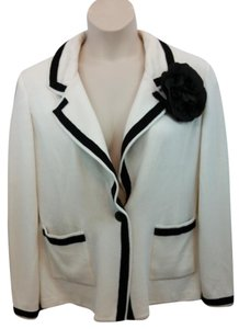 St. John Cream Knit Jacket Blazer