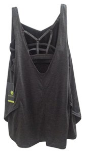 Xersion NWT Xersion Yoga Tank Top, 2 pc, strappy, cut out, gray, black, S