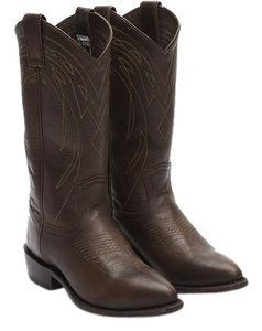 Frye Leather Boot Cowboy Brown Boots